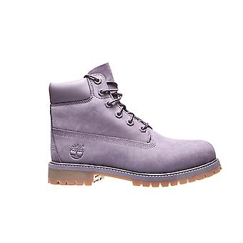 Timberland leather boots 6 premium WP junior purple
