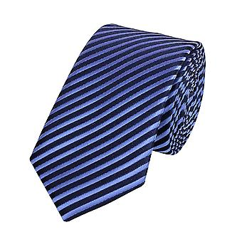 Tie tie tie tie 6cm light blue dark blue striped Fabio Farini