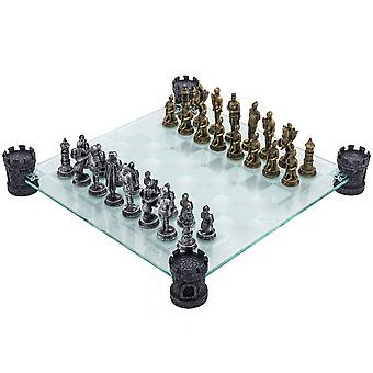 Glass Chess Set - Medieval Knight Edition