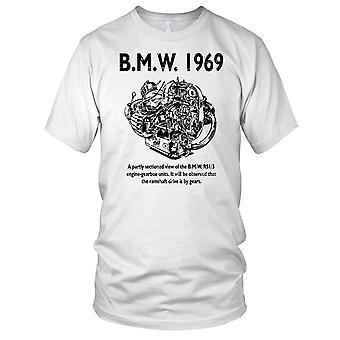 BMW 1969 motorsykkel motorsykkel motor klassiske Biker Mens T skjorte