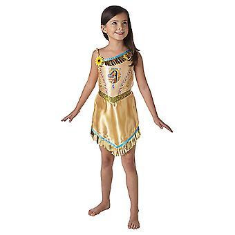 Vestido de princesa de cuento de hadas de cuento de hadas de Pocahontas para niños
