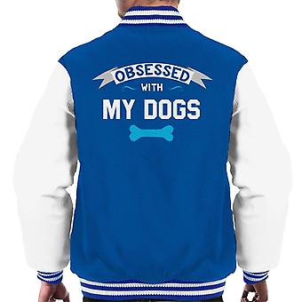 Obsessed With My Dogs Men's Varsity Jacket