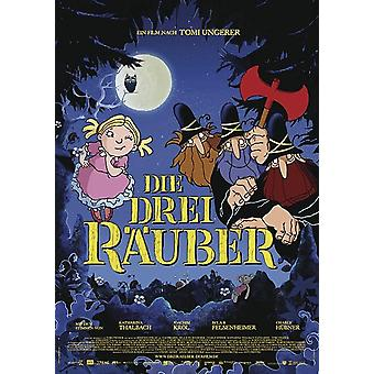 The three robbers poster cartoon (German film poster)
