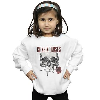 Guns N Roses Girls Flower Skull Sweatshirt