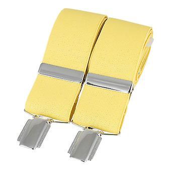 David Van Hagen Classic Plain Braces - Yellow