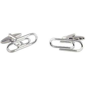 David Van Hagen Paper Clip Cufflinks - Silver