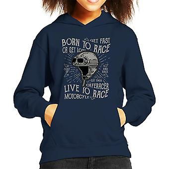 Born To Race Live To Race Kid's Hooded Sweatshirt