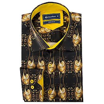 Oscar Banks Baroque Print Mens Shirt