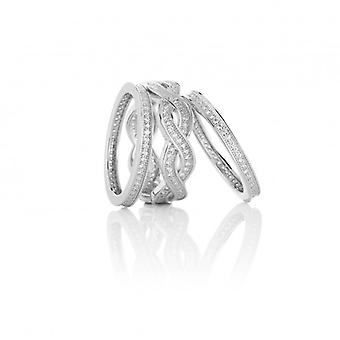 Cavendish French Our Favourite Silver and CZ Stacking Rings
