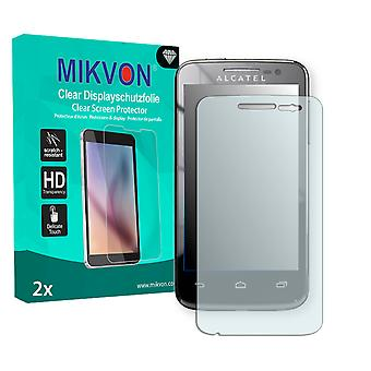 Alcatel One Touch M\'Pop 5020D Screen Protector - Mikvon Clear (Retail Package with accessories)