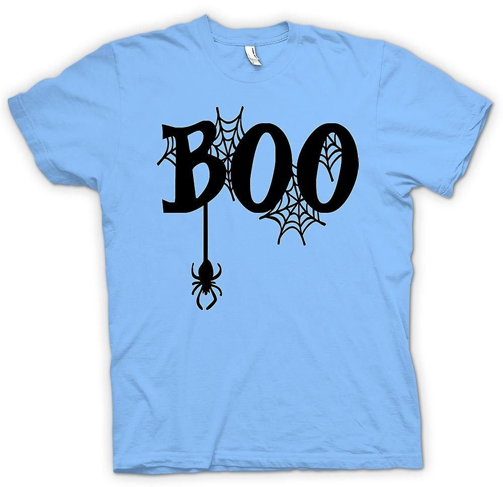 Heren T-shirt - Boo - Web spinnen - Funny