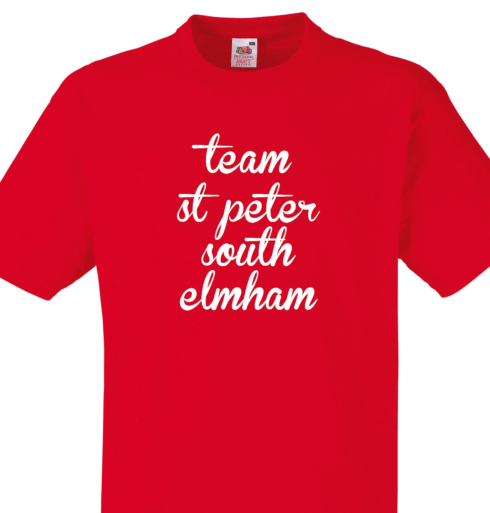Team St peter south elmham Red T shirt