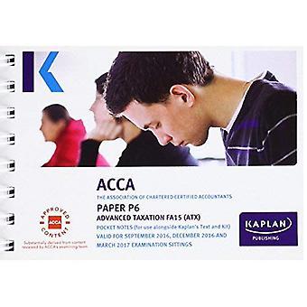 P6 Advanced Taxation - Pocket Notes (Acca Pocket Notes)