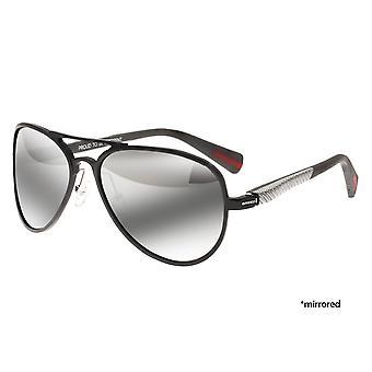 Breed Dorado Titanium Polarized Sunglasses - Black/Black