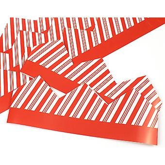 Candy Cane Stripe Adjustable Paper Hats for Crackers - 10 or 25 Pack