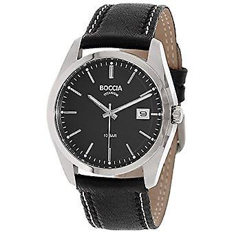Petanque digital watch quartz men's watch with leather 3608-02