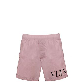 Valentino Pink Nylon Trunks