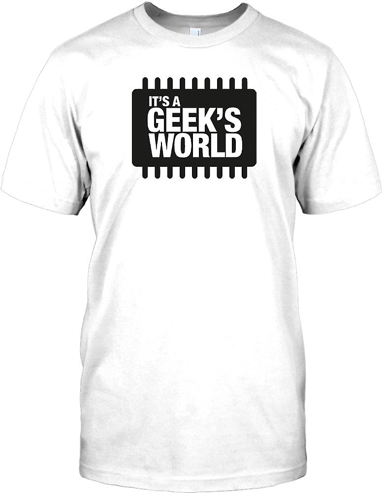 it�s a Geeks World - Funny Mens T Shirt
