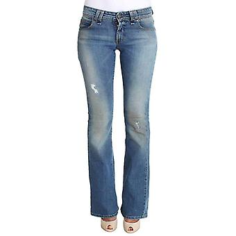 Galliano Blue Wash Cotton Stretch Flare Bootcut Jeans -- SIG3950597