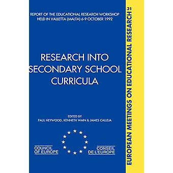 Research Into Secondary School Curricula by Heywood