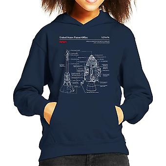 NASA Apollo CSM Escape System Blueprint Kid Sweatshirt mit Kapuze
