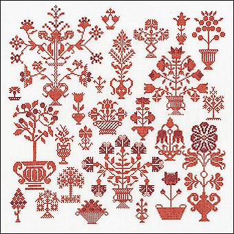 Antique Flower On Aida Counted Cross Stitch Kit-13.25