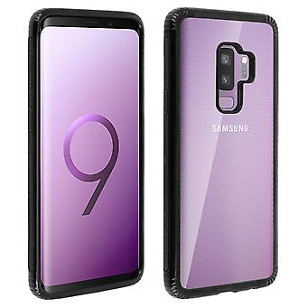 Samsung Galaxy S9 plus Case dubbelt material skydd, lakrits kollektion svart