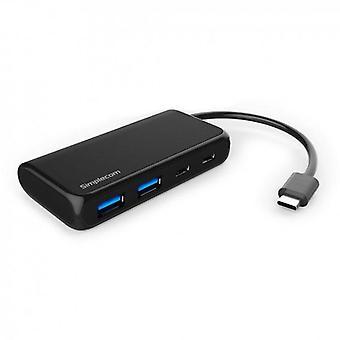 Simplecom CH381 USB 3,1 tipo C 4 porte hub