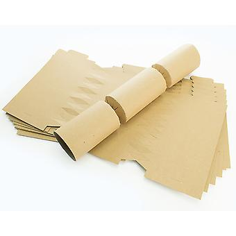 100 Natural Brown Recycled Kraft Make & Fill Your Own Crackers - Bulk Buy