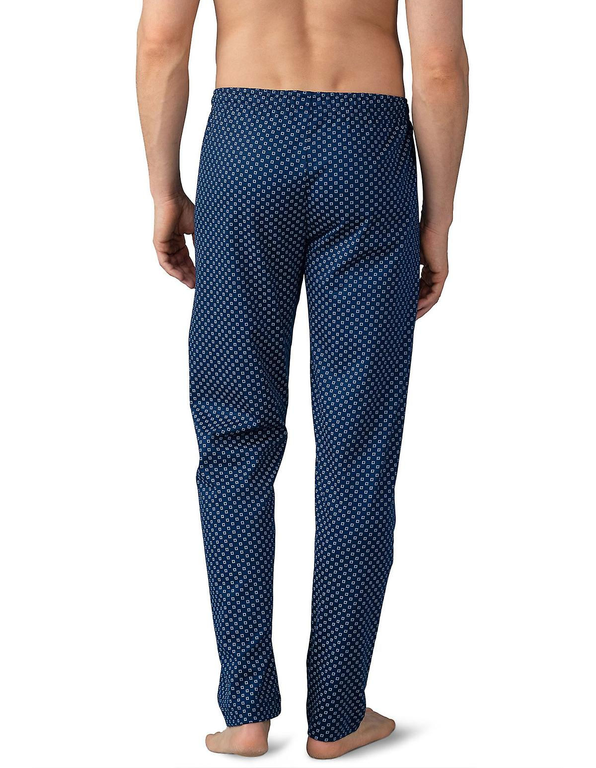 Mey Men 21460-664 Men&s Lounge Neptune bleu Tile Print Cotton Pajama Pyjama Pant