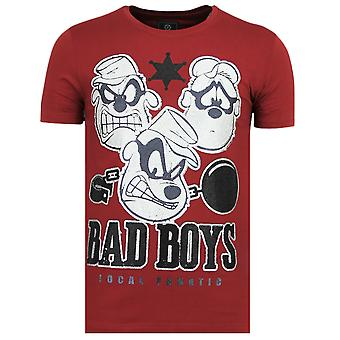 Beagle Boys-Funny T Shirt men-6319B-Bordeaux
