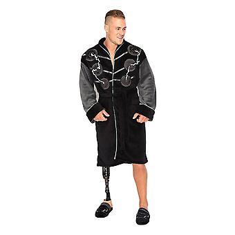 Marvel Avengers Thor Black Fleece Hooded Dressing Gown