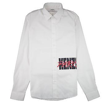 Kenzo script logo langærmet skjorte hvid