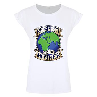 Grindstore Respect Your Mother Earth Ladies Premium T-Shirt