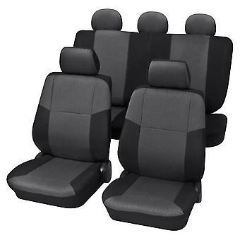 Charcoal Grey Premium autostol Cover sæt til Nissan TIIDA hatchback 2007-2018