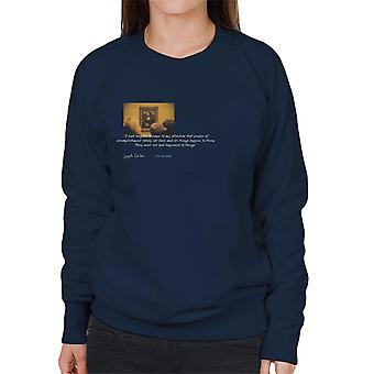 A.P.O.H Leonardo Da Vinci Mona Lisa People Of Accomplishment Quote Women's Sweatshirt