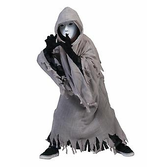 Grey Ghosts Costume Robe Cloak One Size Children Costume Carnival Halloween Carnival Kids Ghost