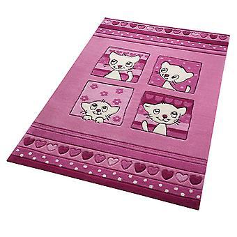 Rugs - Smart Kids - Kitty Kat Pink 3988-02