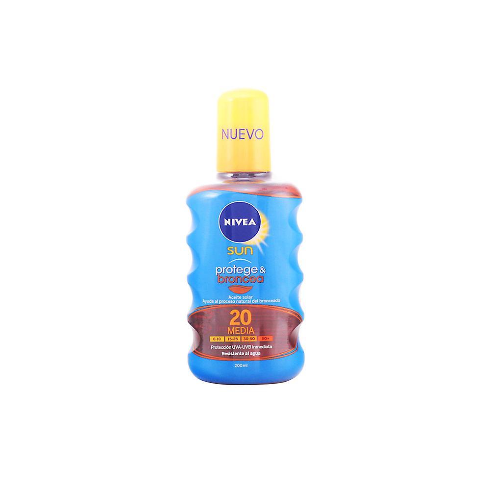 Unisexe Spf20 Nivea Sun Protegeamp; Broncea 200 Ml Aceite bgIvYmf76y