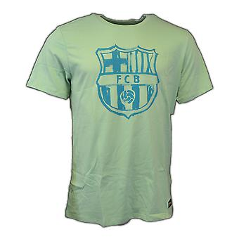 2016-2017 Barcelona Nike Crest T-Shirt (emaille groen)