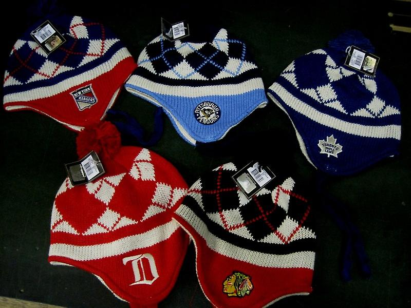 Reebok tassle knit.  several NHL teams. Uni size