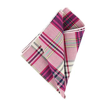 Andrews & co. handkerchief Pink Plaid handkerchief Cavalier cloth