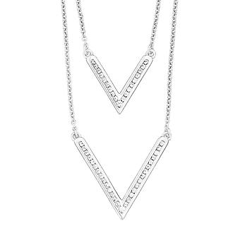 s.Oliver jewel ladies chain necklace silver Zyrkonia V pendant 2012656
