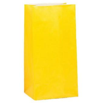 Paper Party bags - Yellow - pack of 12
