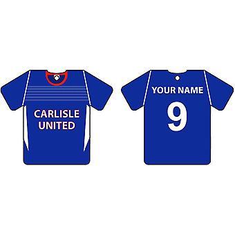 Carlisle personalizado United fútbol camisa ambientador de aire