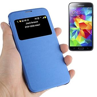 Smart Cover Window Light Blue pour Samsung Galaxy Mini S5