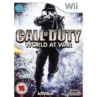 Call of Duty : World at War Nintendo Wii Game