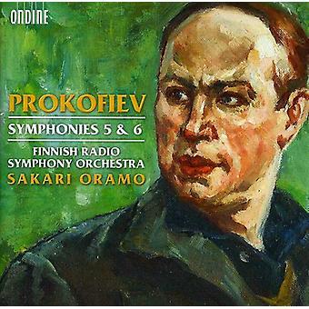 S. Prokofjev - Prokofiev: Symfonier nr. 5 & 6 [CD] USA import