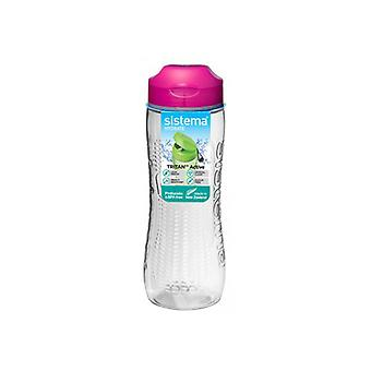Sistema Tritan Active Bottle 800ml Pink