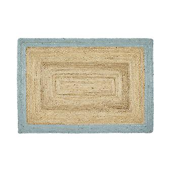 Origines Jute Jute frontière canard oeufs Rectangle tapis Plain/près des tapis Plain